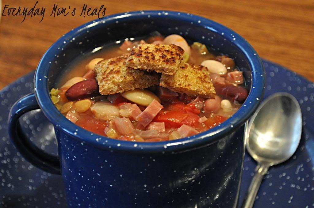 Everyday Mom's Meals: I Make No Apologies Zesty Bean Soup Crockpot recipe