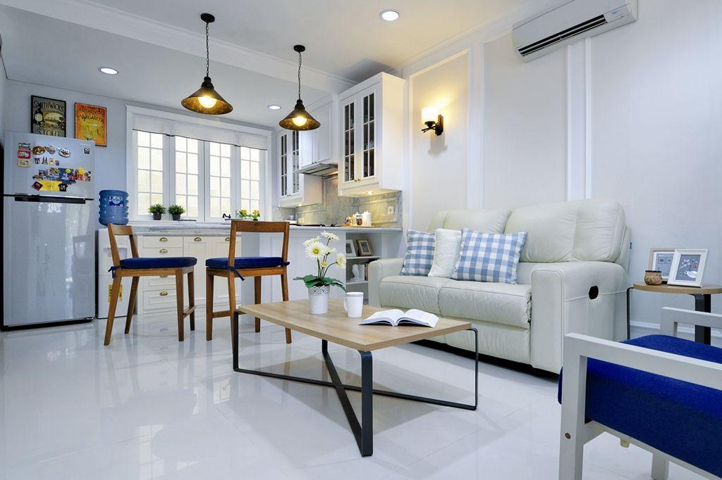 Dapur Klasik Menyatu Dengan Ruang Tamu