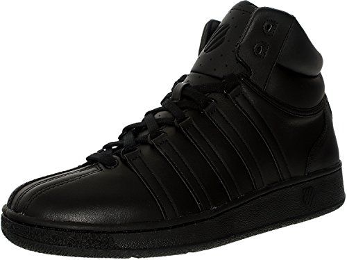 K-Swiss Classic VN Mid Iconic Fashion Sneaker,Black/Black,10.5 M