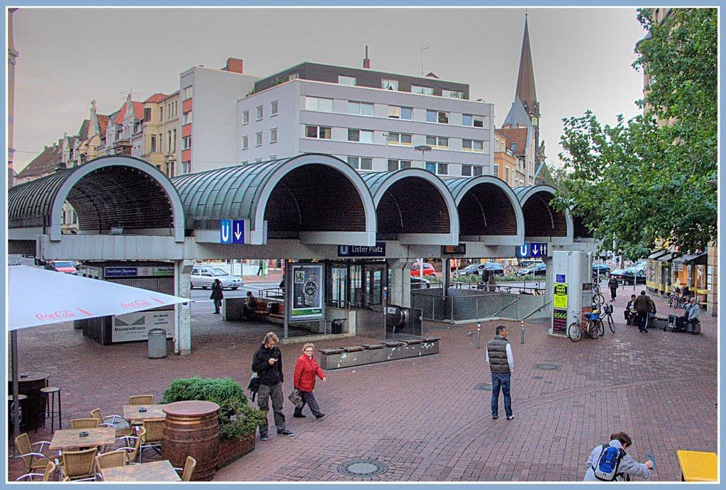 Hannover Lister Meile U Bahn Station Lister Platz Mit Tonnendach
