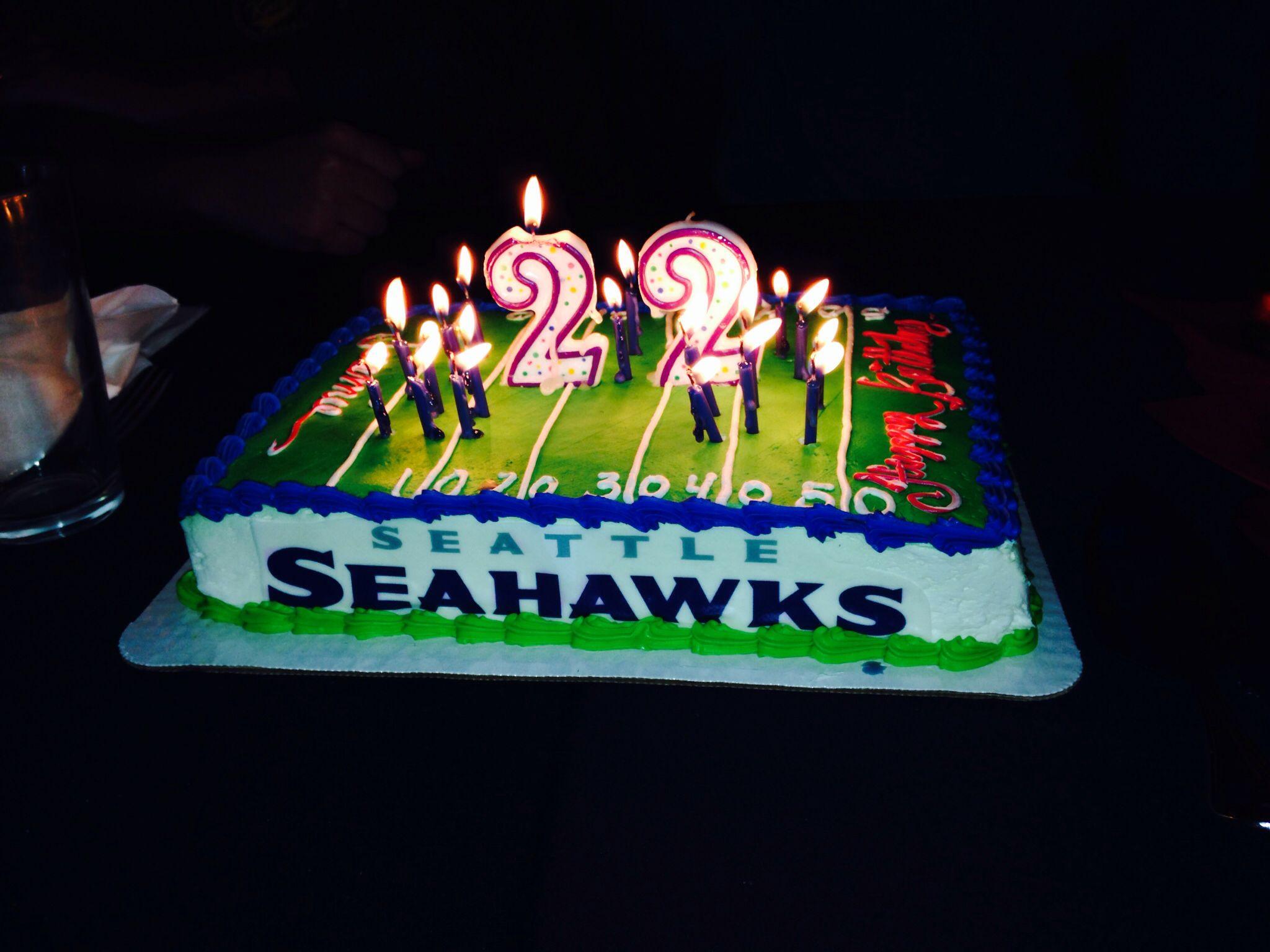 Seahawks birthday cake for my babe(: