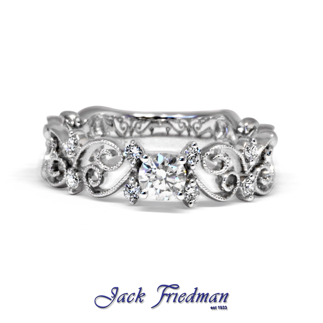 Open Butterfly Filigree Engagement Ring Jackfriedman Co Za Platinum Wedding Rings Sets Brilliant Engagement Rings Filigree Engagement Ring