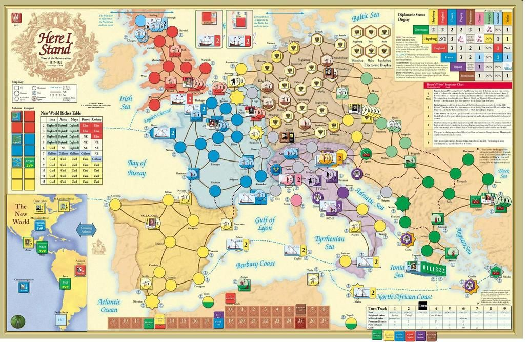 Here I Stand: a board game about the wars of the Protestant Reformation.  Thinking about playing this at my bachelor party (seriously).