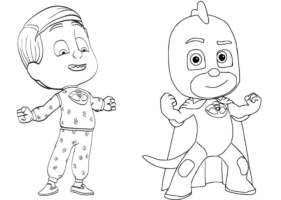 Pajama Hero Greg Coloring Page Malarbok