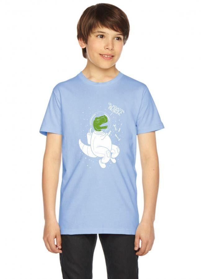 houston we have a problem dinosaur Youth Tee