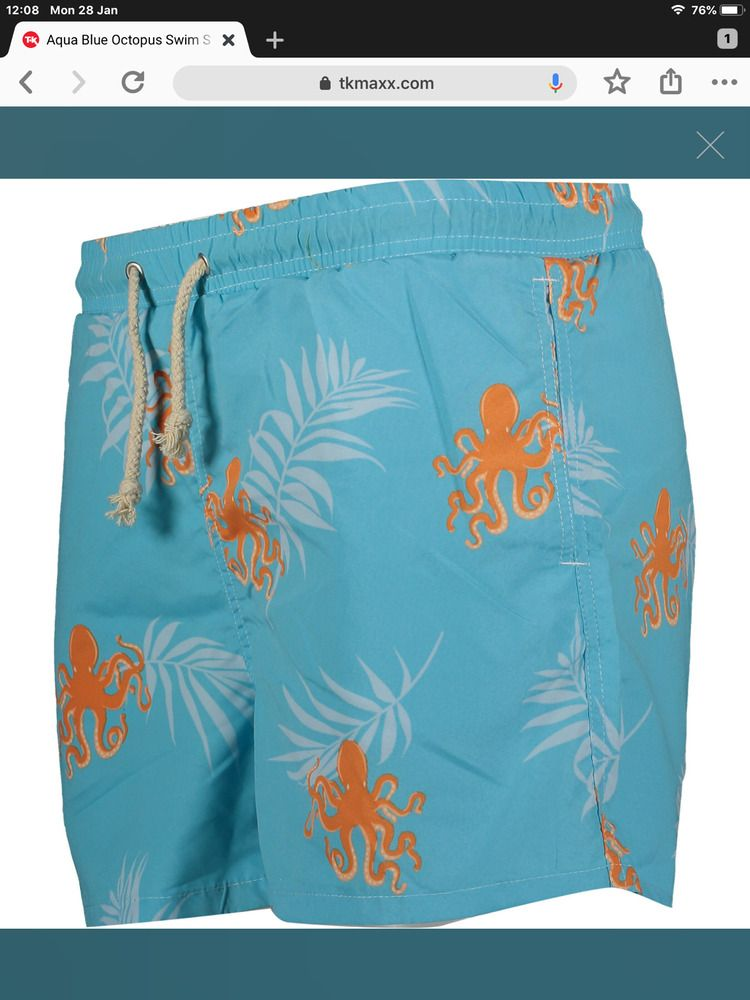 2d8f9a4c2f Havacoa Swim Shorts Mens Blue Octopus M L XL XXL Authentic New RRP ...