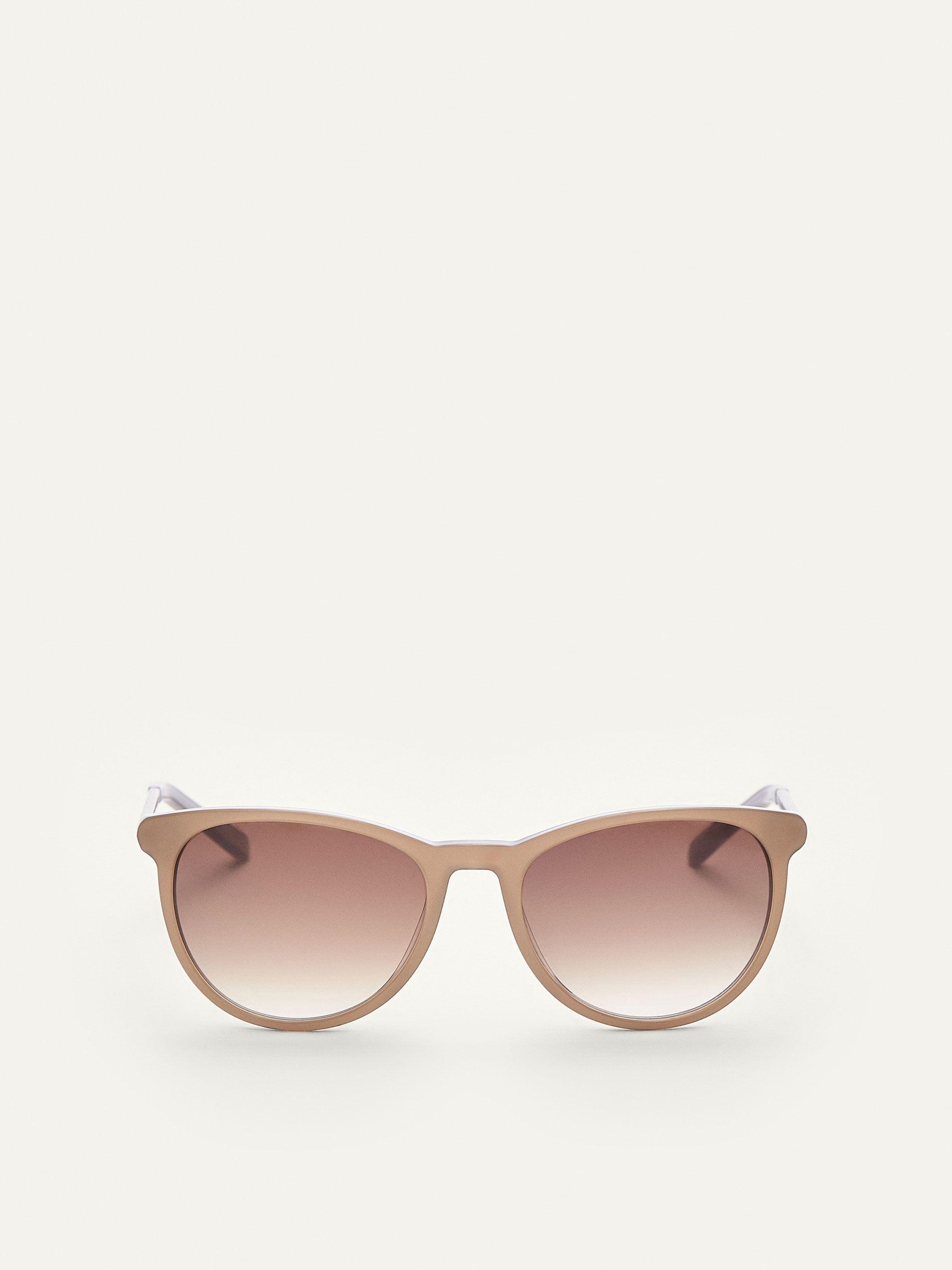 Gafas de sol con montura de pasta gris topo, lentes con filtro de ...
