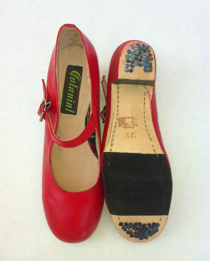 Details About Mexican Adult Red Folk Dance Shoes Handmade