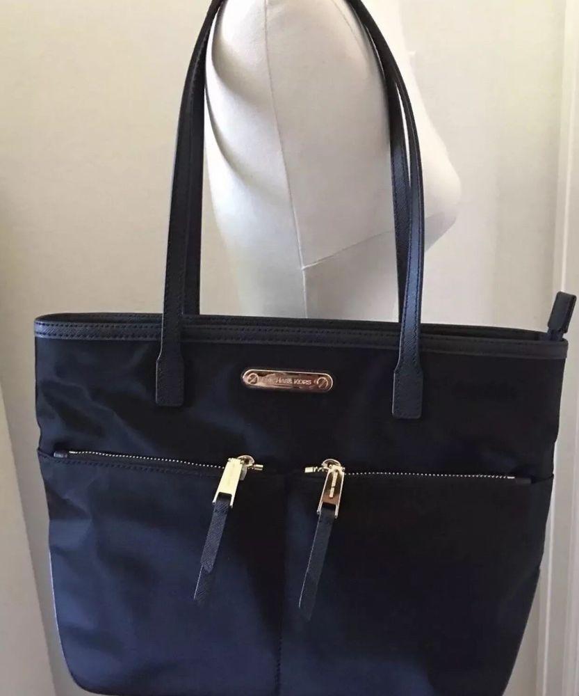 f2395a224b63 NEW AUTHENTIC MICHAEL KORS KEMPTON BLACK MD MEDIUM POCKET TOTE HANDBAG  WOMEN'S #fashion #clothing #shoes #accessories #womensbagshandbags (ebay  link)