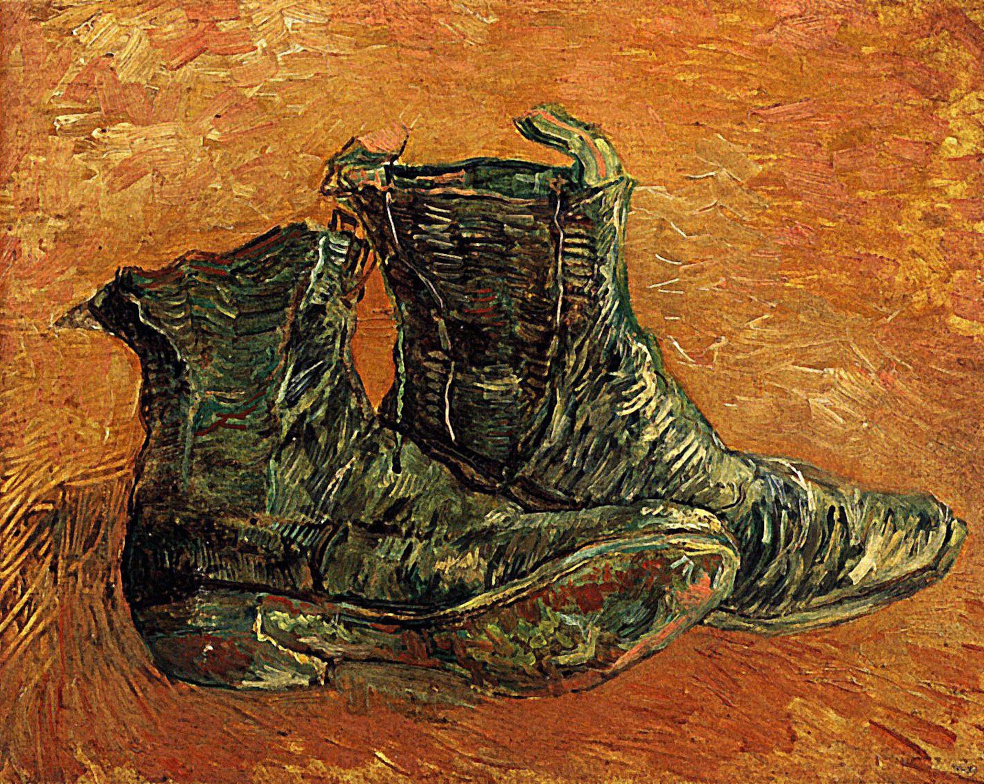 1887 Vincent Van Gogh Paire de souliers Huile sur Carton
