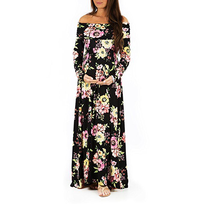 d09678de62d8 Mother Bee Womens Cowl Neck and Over The Shoulder Maternity Dress ...