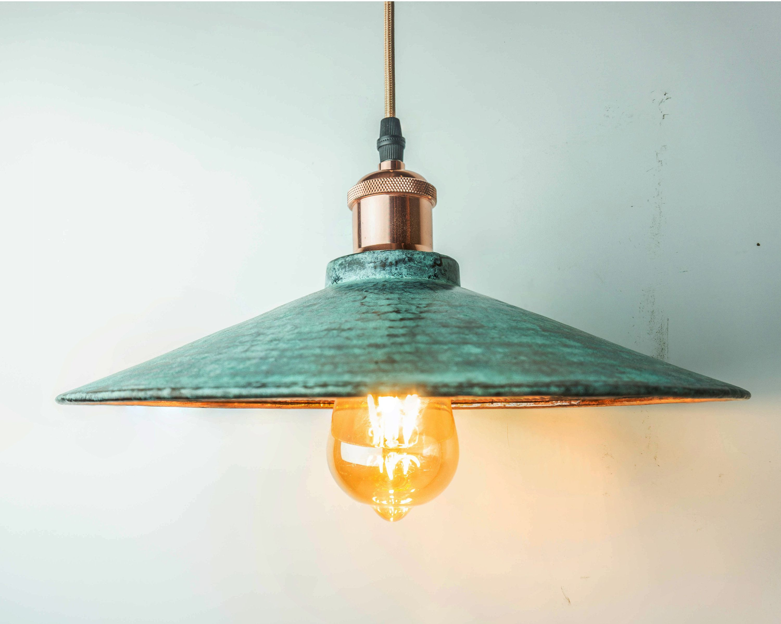 Oxidized Copper Pendant Light Copper Industrial Lighting Copper Kitchen Island Light Copper Lampshade Art Deco Lamp By Cangcimencraft On Etsy