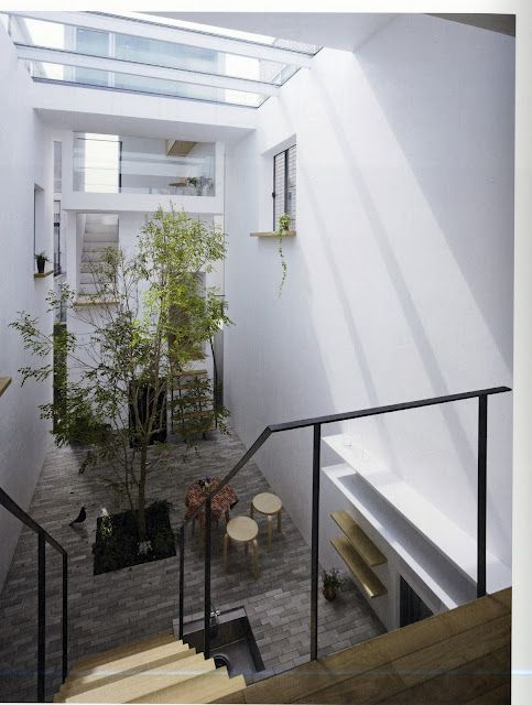 Townhouse Light Void Courtyard Design Indoor Courtyard