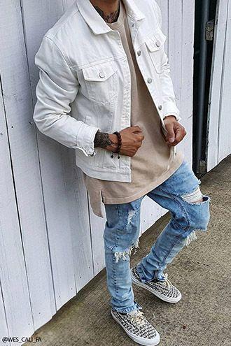 Zippered Denim Jacket