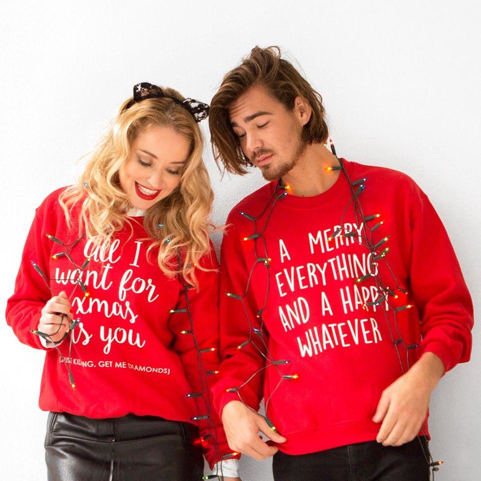 Chique Kersttrui.Kersttrui Diamonds Rood Pf Do It Yourself Christmas Sweaters