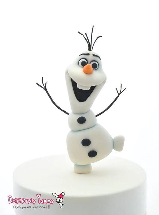 Disney Frozen Olaf Fondant Figure Cake Topper Crăciun