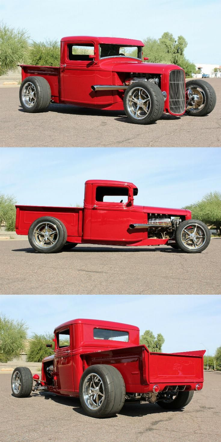 red beast 1934 Ford Pickup custom Custom trucks for sale