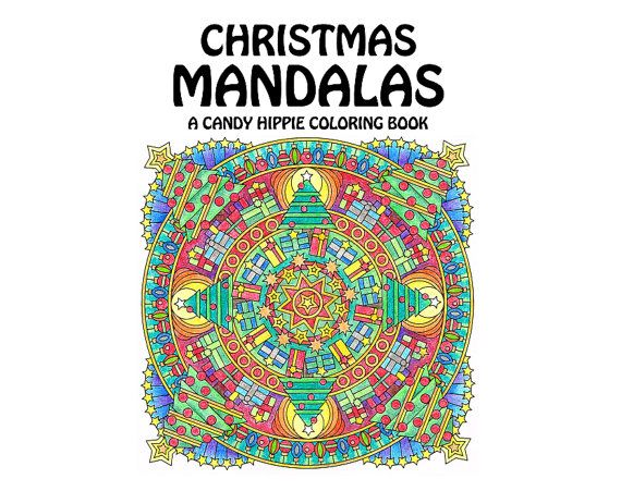 christmas mandalas coloring book printable adult coloring book for adults and big kids 12 christmas coloring pages - Christmas Coloring Books For Adults