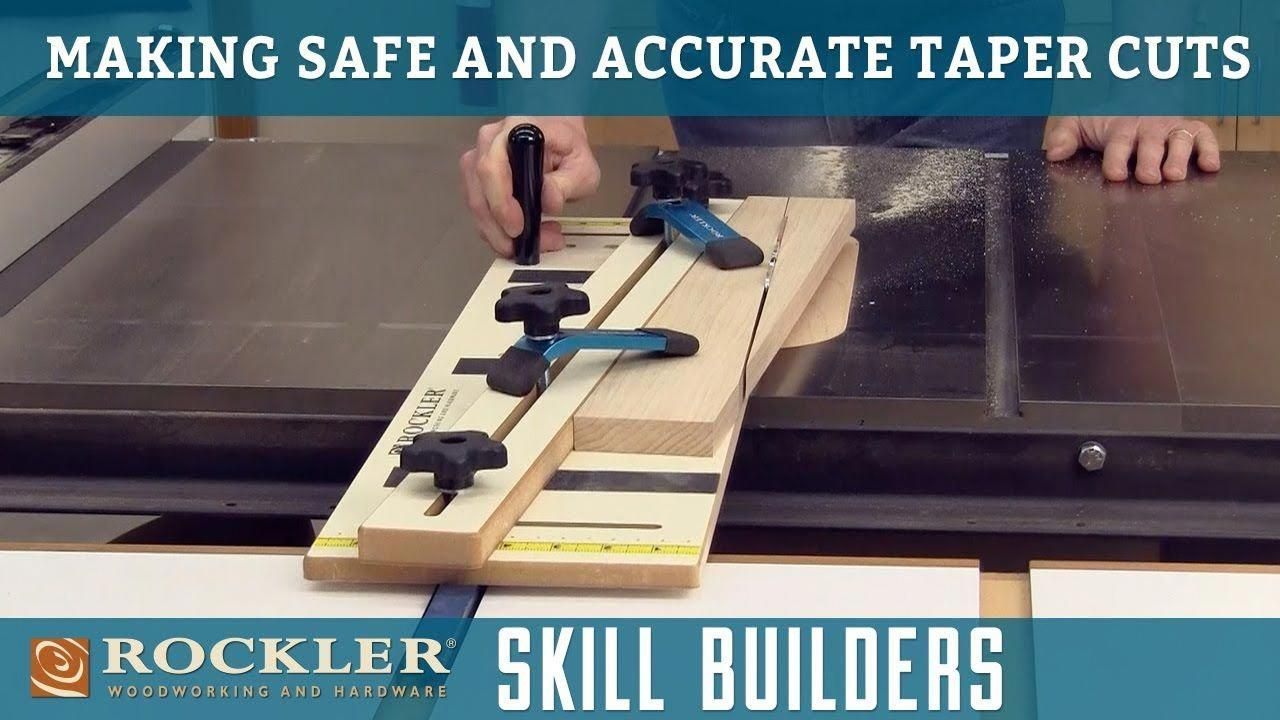 How To Make Safe Taper Cuts Using A Table Saw Vintagetablesaw