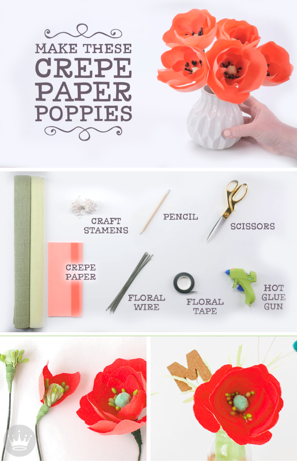 How To Make Paper Poppy Flowers Hello Summer Paper Flowers