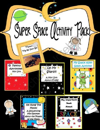 Super Space Activity Pack 60 Pages From Engaginglessons On Teachersnotebook Com 60 Pages Th Space Activities Activity Pack Winter Classroom Activities