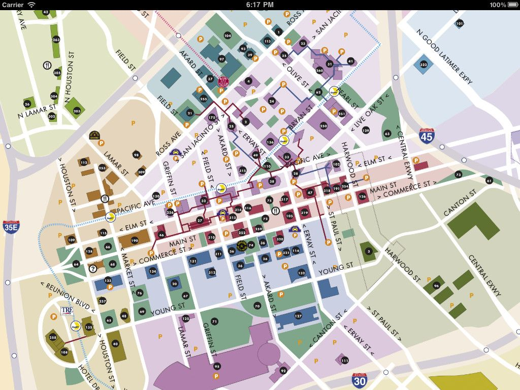 Downtown Dallas Map And Guide Image Of Dallas Maps Download - Map of houston hotels downtown
