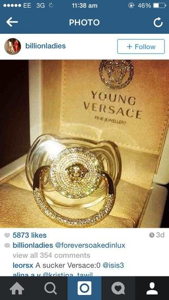 Jewels Young Versace Baby Dummy Pacifier Versace Designer