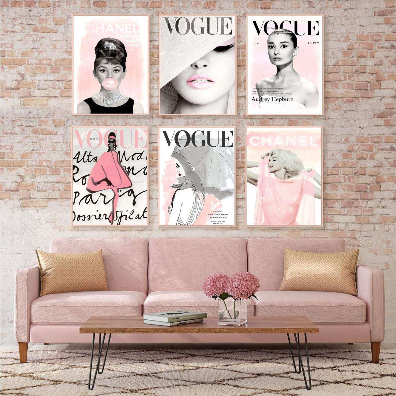 Fashion Wall Art Set Prints Vogue Posters Chanel Prints Etsy Fashion Wall Art Salon Interior Design Nail Salon Interior Design