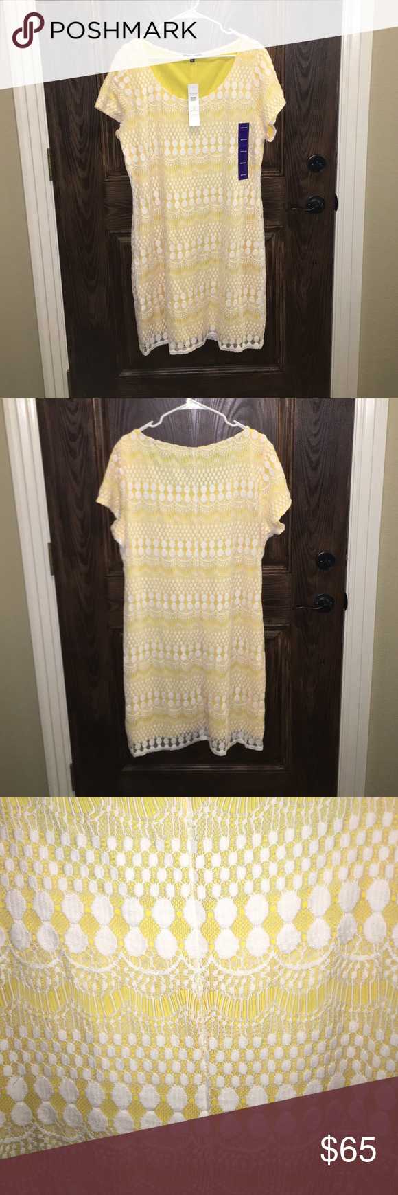 NWT: Beautiful Lined Yellow Sun Dress new with tags & never worn! COMES WITH FREE SURPRISE GIFT!!!!!! Tiana B.  Dresses