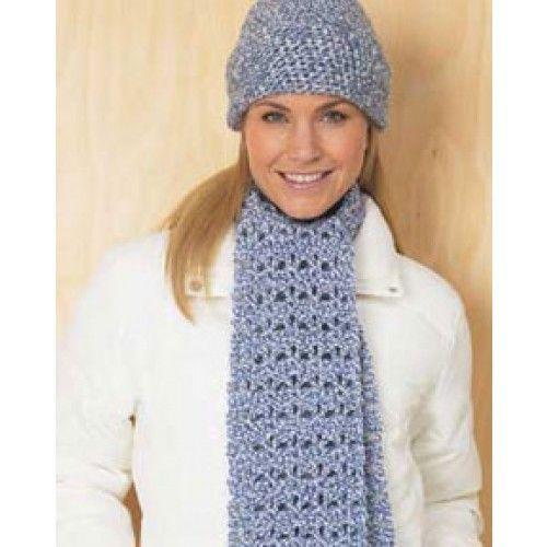Mary Maxim Free Womans Hat Scarf Set Crochet Pattern Free