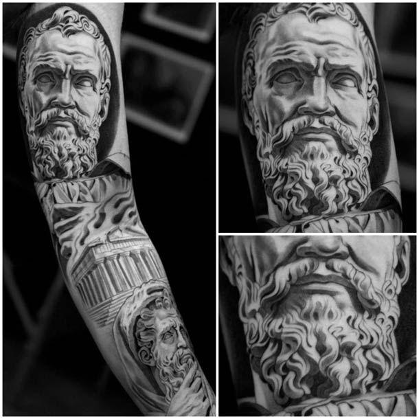 30 superbes Tatouages de Jun Cha \u2013 Entre Grèce antique et Renaissance