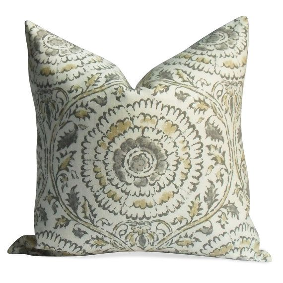Kravet Kamala pillow cover in Stone - BOTH Sides - Invisible Zipper - 18x18 20x20