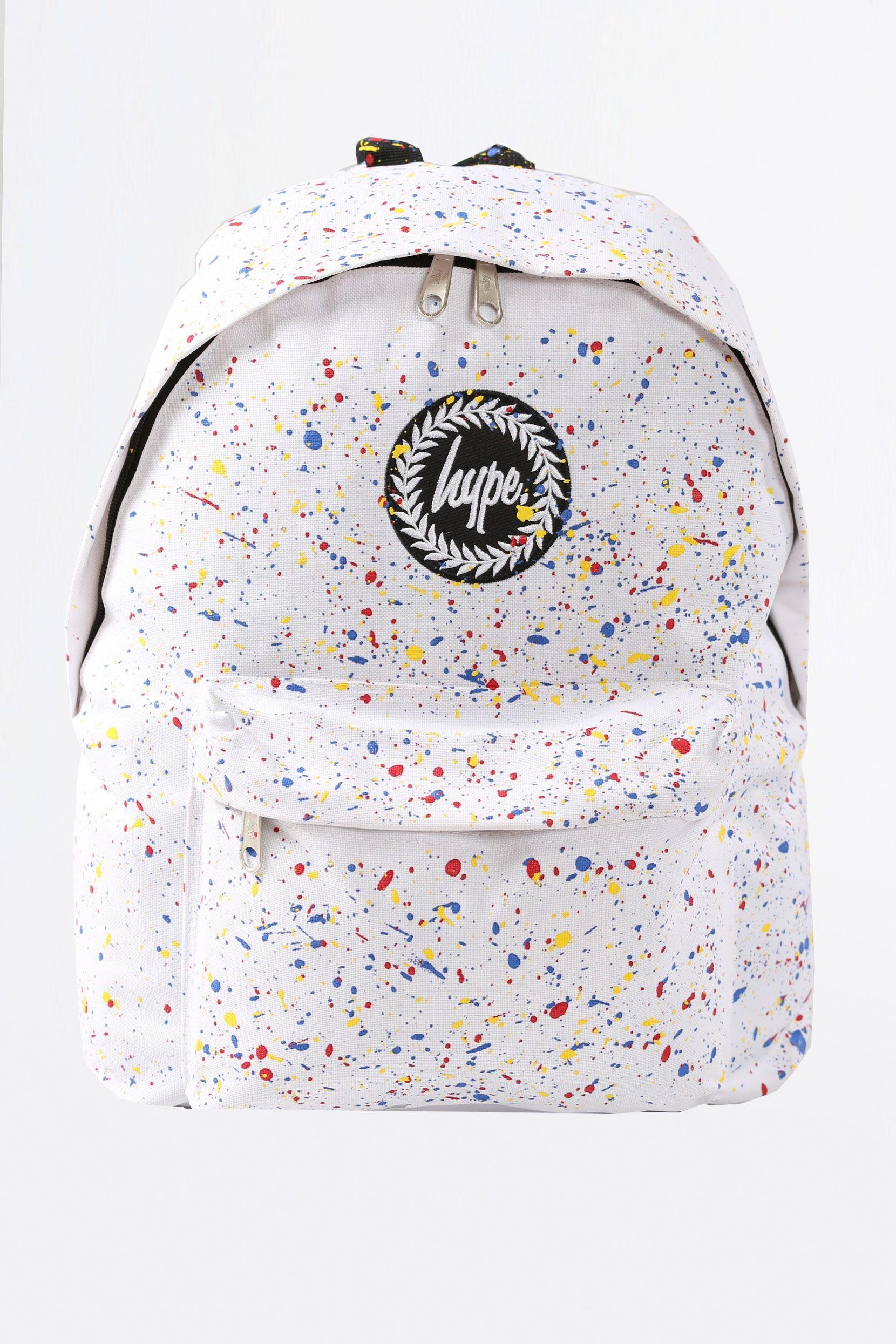 HYPE WHITE PRIMARY SPLAT BACKPACK - HYPE®   Backpacks   Pinterest ... 64dda638dd