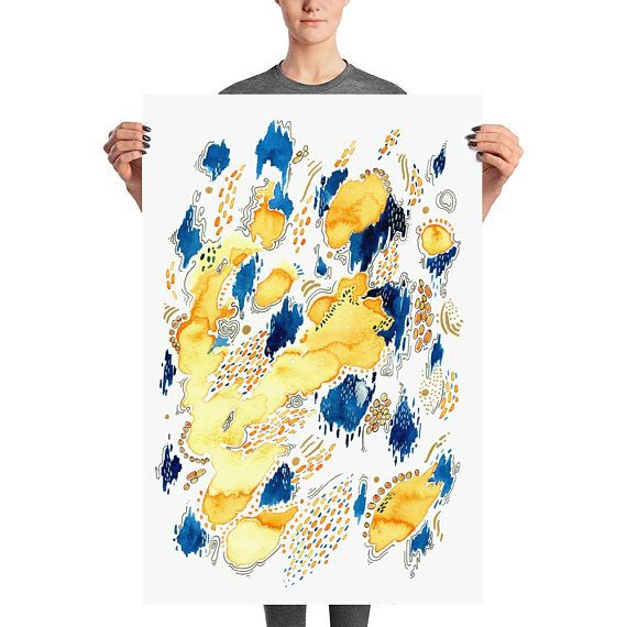 Giant abstract art poster! Now 15% off the whole store - come and ...