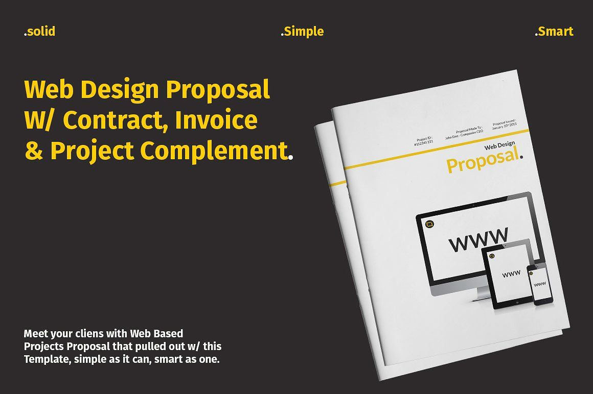 Web Design Proposal W Complement Page Automatic Master