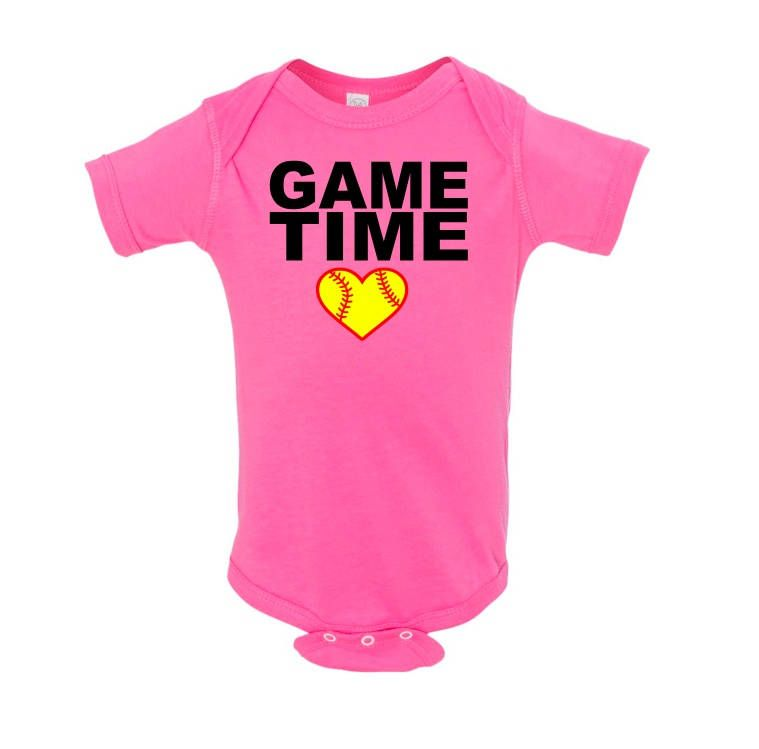 76cef01c6 Game Time Softball Baby Bodysuit - Softball Onesie - Baby Softball Bodysuit  - Infant Softball Fan Onesie by JessLynnCreation on Etsy
