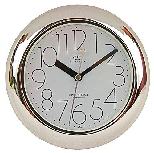 nice design quiet wall clock. nice Water Resistant Wall Clock with Quiet Sweep Movement  clocks