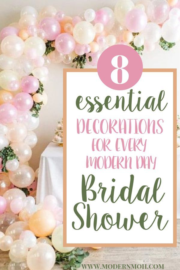 8 Essential Modern Day Bridal Shower Decorations