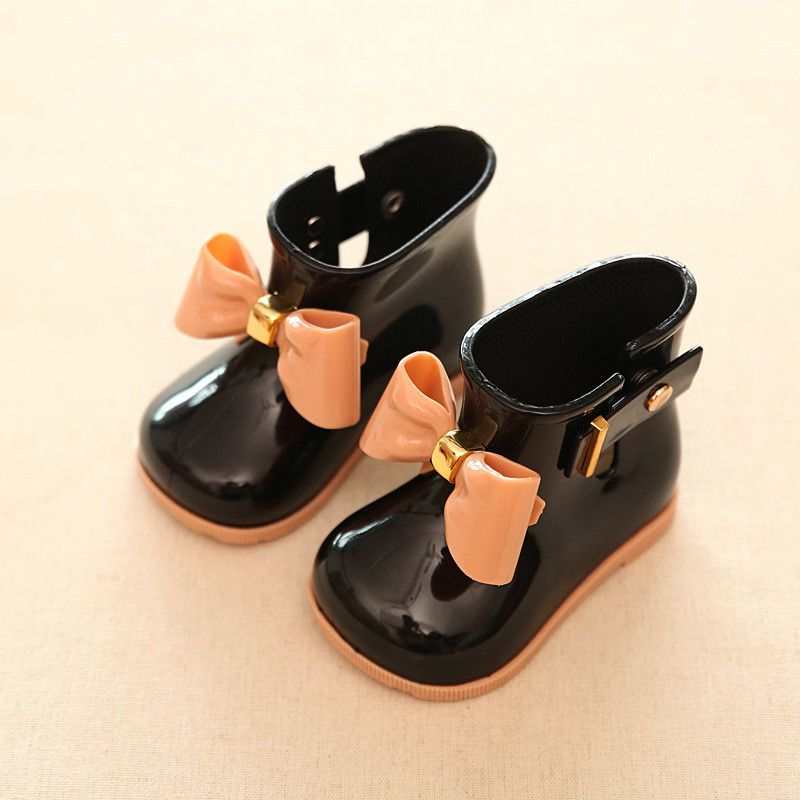 Kids Baby Bow Jelly Rainboots Rain Boots Girls Princess Rain Rubber Shoes Gifts