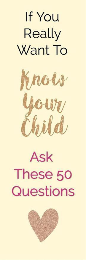 50 Fun Questions To Ask Your Kids - Get To Know Them Better Today! #parenting