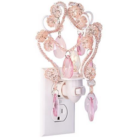 Maize Pink Chandelier Night Light | Julia\'s Loft | Pinterest ...