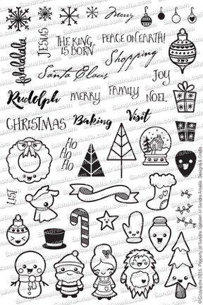 Christmas Doodles - 4x6 Stamp Set (Pre-Order) - The Sassy Club