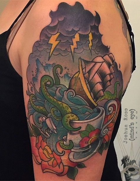 Pin By Minds Eye Tattoo On Joshua Rosss Tattoo Portfolio Tattoos