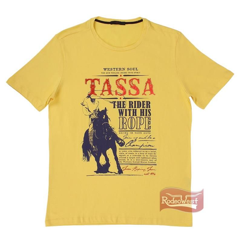 Camiseta Masculina Regular Amarela 100% Algodão - Tassa 15480 - RodeoWest