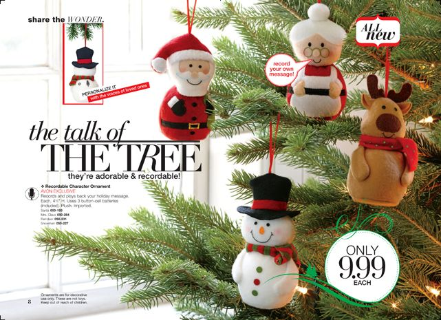 new Recordable Character Ornament AVON EXCLUSIVE Records and plays ...