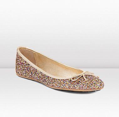 1112364cf4b Jimmy Choo -- Walsh glitter ballet flat... LOVE these!!!