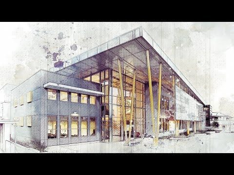 Architecture Art Sketch Photoshop Action Tutorial Advanced