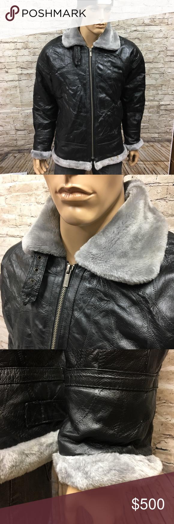 Vintage Rocky 4 Style Vilanto Leather Fur Jacket L Fur Leather Jacket Fur Jacket Style [ 1740 x 580 Pixel ]