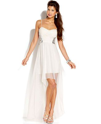 Jump Juniors\' Lace High-Low Dress from Macy\'s | Wedding Ideas ...