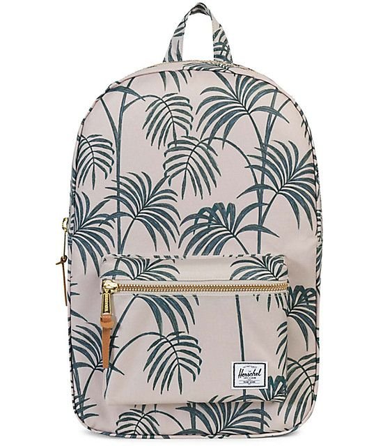 df140eeb232 Carry your essentials in style with the Mid-Volume Settlement Backpack from Herschel  Supply Co. Herschel s custom Pelican Palm printed canvas features a ...